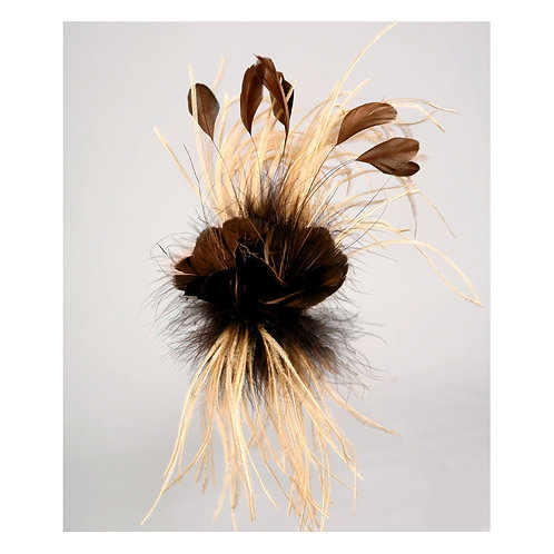 Camel Brown Feather Flower