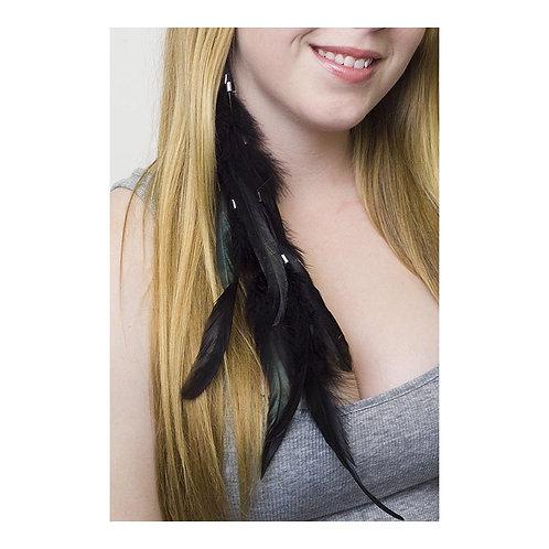 Black Rooster Schlappen Earring
