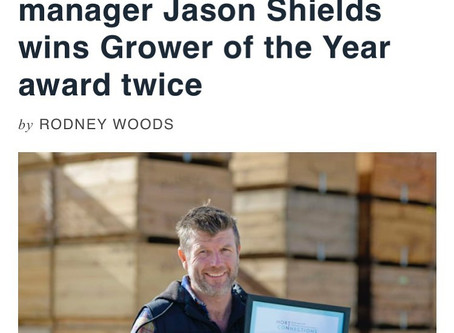 Plunkett Orchards orchard manager Jason Shields wins Grower of the Year award twice
