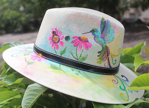 Sombrero Indiana pintado a mano