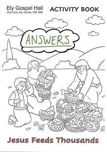 Jesus Feeds Thousands Activity Book ANSW