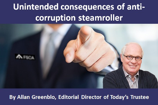 Unintended consequences of anti-corruption steamroller