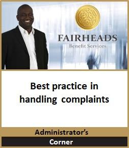 Best practice in handling complaints
