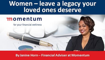 Women – leave a legacy your loved ones deserve