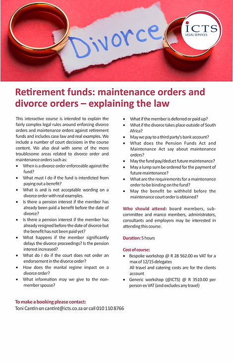 ICTS Legal Services - Divorce Flyer 2020