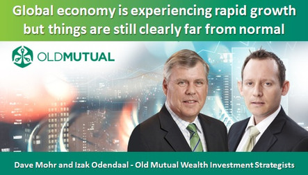 Global economy is experiencing rapid growth but things are still clearly far from normal