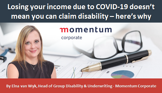 Losing your income due to COVID-19 doesn't mean you can claim disability – here's why