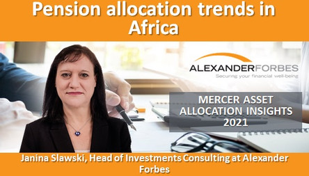 Pension allocation trends in Africa
