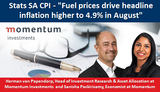 """Stats SA CPI - """"Fuel prices drive headline inflation higher to 4.9% in August"""""""