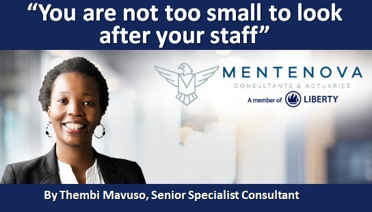 """""""You are not too small to look after your staff"""""""