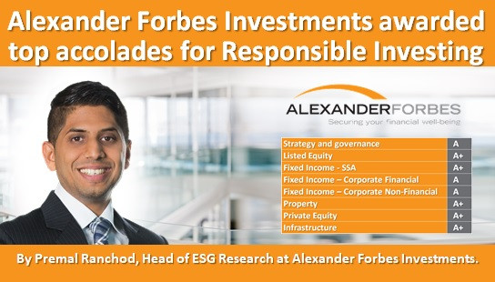 Alexander Forbes Investments awarded top accolades for Responsible Investing