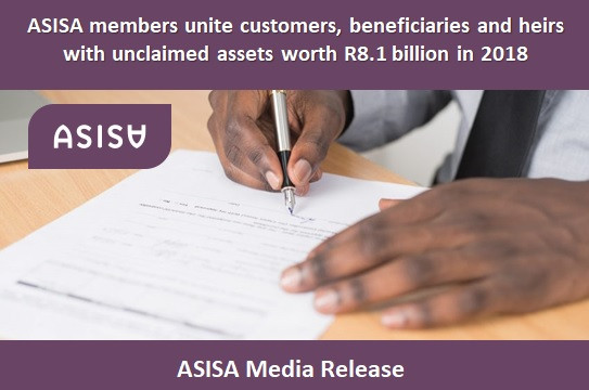 ASISA members unite customers, beneficiaries and heirs with unclaimed assets worth R8.1 billion in 2