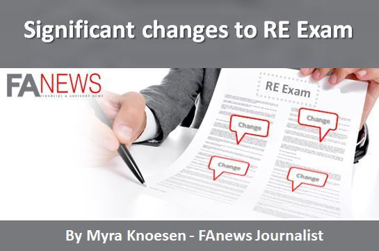 Significant changes to RE Exam