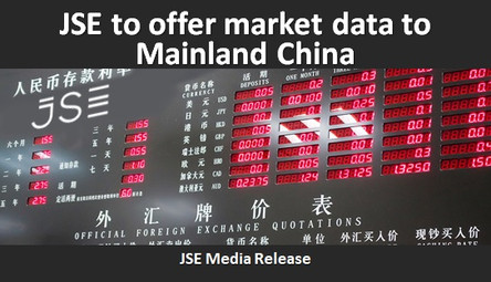 JSE to offer market data to Mainland China