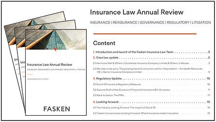 Insurance Law Annual Review 2021 Banner.