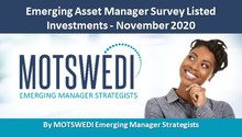 Emerging Asset Manager Survey Listed Investments - November 2020