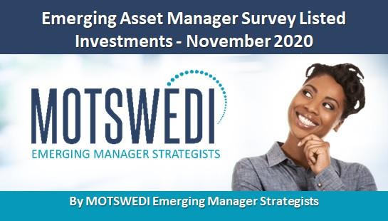 Emerging Asset Manager Survey Listed Investments - November 2020