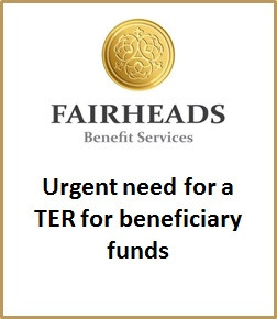 Urgent need for a TER for beneficiary funds