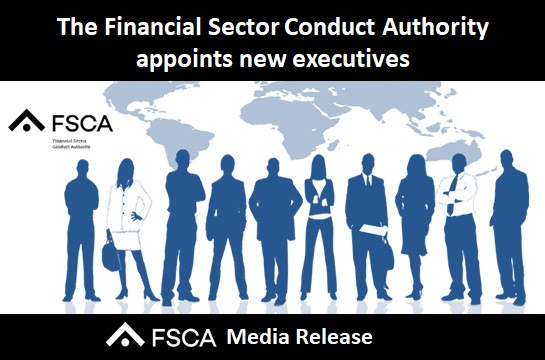 The Financial Sector Conduct Authority appoints new executives