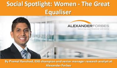 Social Spotlight: Women - The Great Equaliser