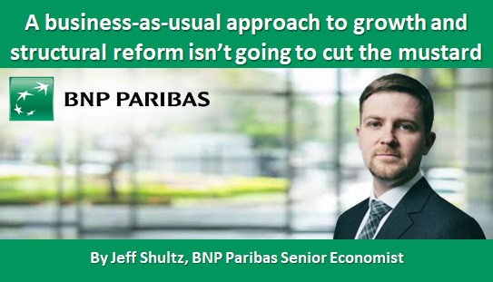 A business-as-usual approach to growth and structural reform isn't going to cut the mustard