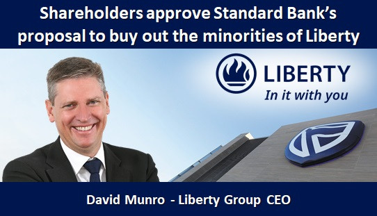 Shareholders approve Standard Bank's proposal to buy out the minorities of Liberty
