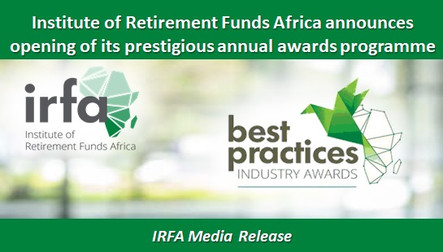 Institute of Retirement Funds Africa announces opening of its prestigious annual awards programme