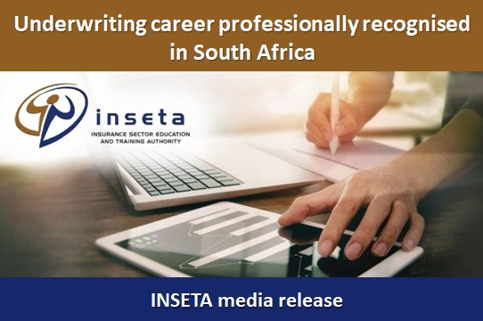 Underwriting career professionally recognised in South Africa