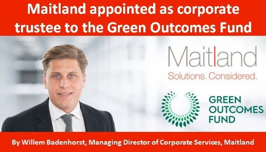 Maitland appointed as corporate trustee to the Green Outcomes Fund