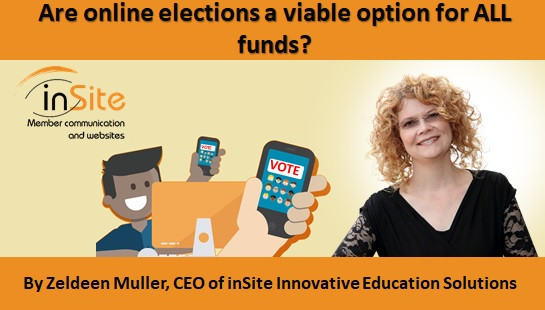 Are online elections a viable option for ALL funds?