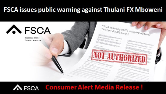 FSCA issues public warning against Thulani FX Mboweni