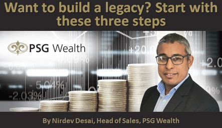 Want to build a legacy? Start with these three steps