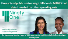 Unresolved public sector wage bill clouds MTBPS but detail needed on other spending cuts