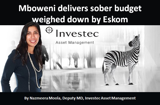 Mboweni delivers sober budget weighed down by Eskom