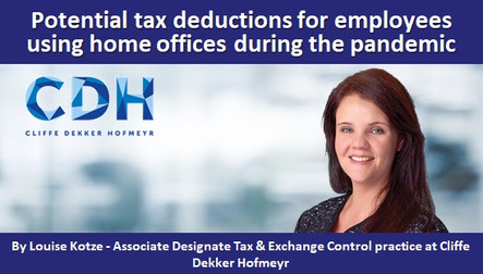 Potential tax deductions for employees using home offices during the pandemic