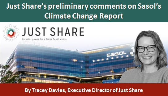 Just Share's preliminary comments on Sasol's Climate Change Report