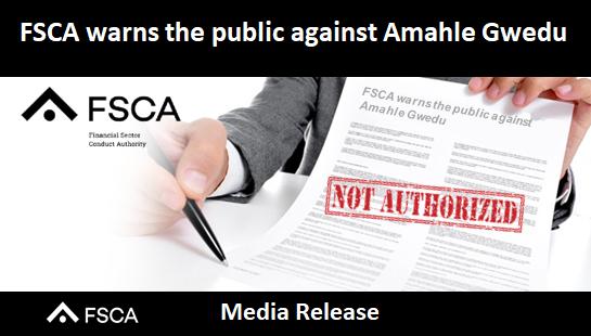 FSCA warns the public against Amahle Gwedu