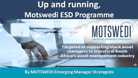 Up and running, Motswedi ESD Programme