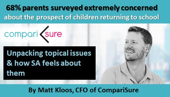 68% Parents surveyed extremely concerned about the prospect of children returning to school