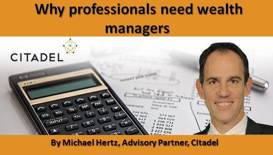 Why professionals need wealth managers
