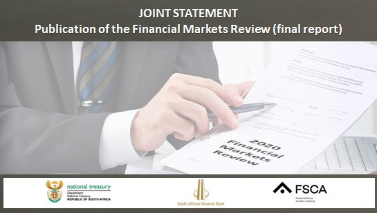 JOINT STATEMENT Publication of the Financial Markets Review (final report) 2020
