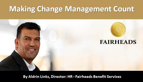Making Change Management Count