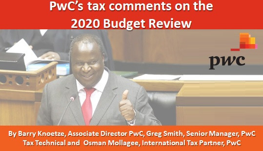 PwC's tax comments on the 2020 Budget Review