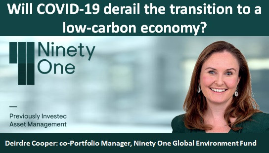 Will COVID-19 derail the transition to a low-carbon economy?