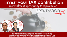 Invest your Tax contribution – an investment to capitalise on