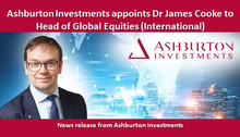 Ashburton Investments appoints Dr James Cooke to Head of Global Equities (International)