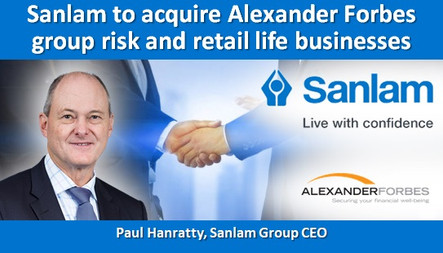Sanlam to acquire Alexander Forbes group risk and retail life businesses