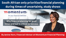 South African only prioritise financial planning during times of uncertainty, study shows