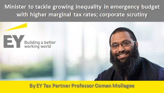 Minister to tackle growing inequality in emergency budget with higher marginal tax rates; corporate