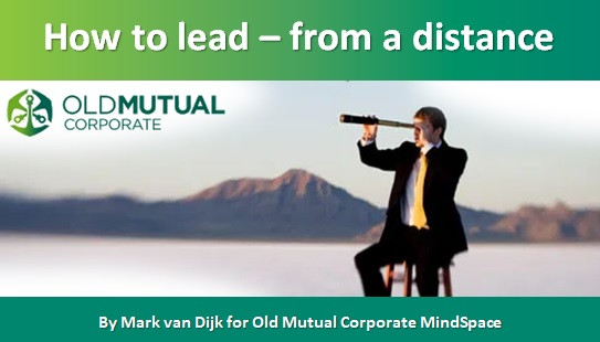 How to lead – from a distance